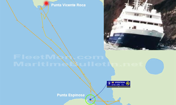 Cruise Ship Celebrity Xpedition Refloated Update Disabled Breached Maritime Bulletin