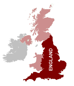 A map of England