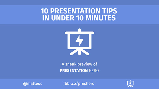 Discover 10 simple actionable tips that can instantly make your next presentation a success. Presentation Hero is a framework to structure, design and deliver any kind of presentation. In this first document we focus on presentation structure: how to captivate your audience, how to structure your narration, how to start, how to conclude your presentation? Discover the simplicity and clarity of Presentation Hero and improve your presentation skills.