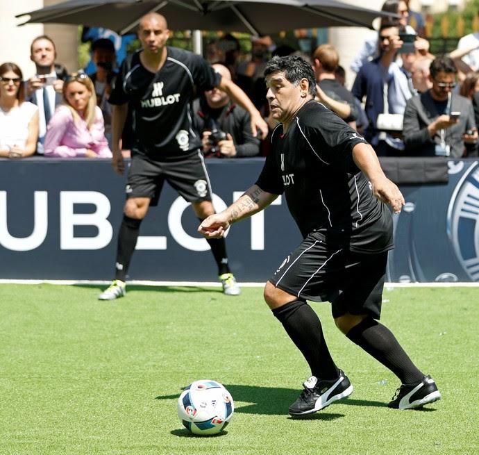 Maradona evento Pelé (Foto: Reuters)