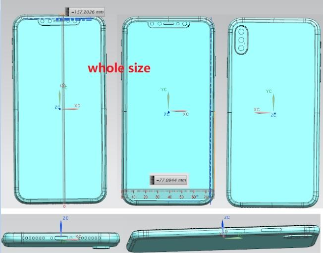 Forbes Reveals Schematics Of The iPhone X Plus And Budget iPhone X