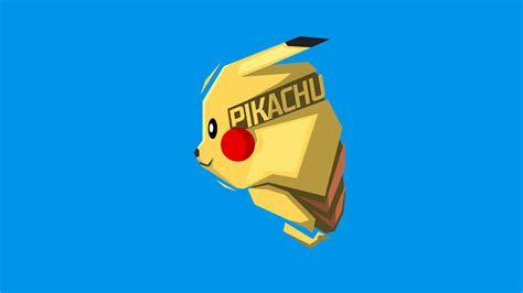 wallpaper pikachu minimal art   minimal