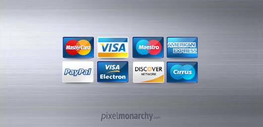 Free PSD: Credit / Debit Cards Icons – Free PSD File | Pixel Monarchy