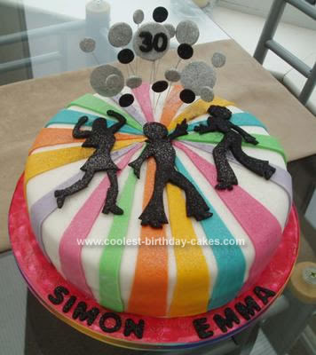 70th Birthday Party Ideas On Coolest 70 S Disco Cake 2