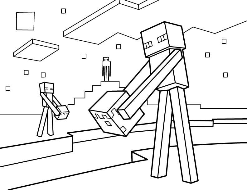 [Najbardziej lubiany] Kolorowanki Minecraft Enderman