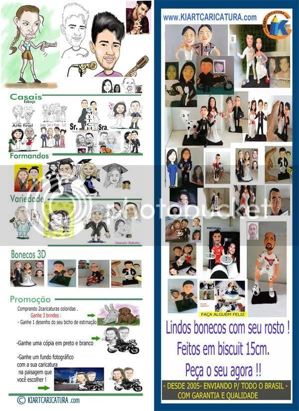 bonecos 3d - caricaturados