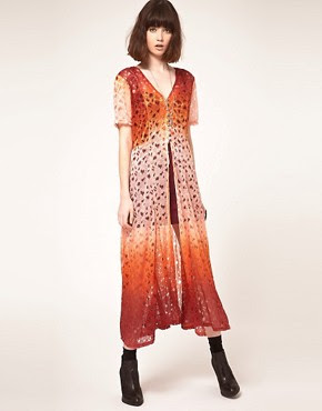 Image 1 ofEvil Twin Behind The Sun Dip Dye Lace Maxi Dress