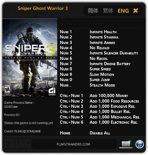 Sniper Ghost Warrior 3 fling
