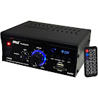 Pyle Home PCAU25A 2 x 40 Watts Mini Power Amplifier with LED Display