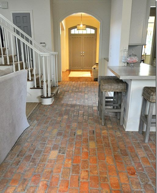 Kitchen stuffs brick floor in the kitchen love this for 1 2 3 4 all the ladies on the floor