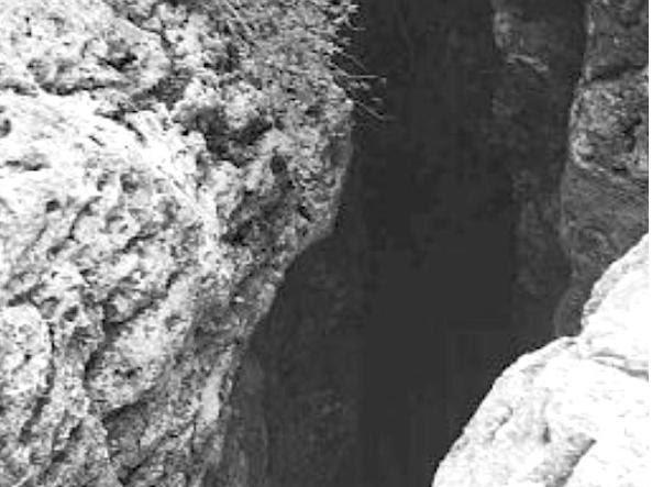 Il dettaglio di una gola carsica