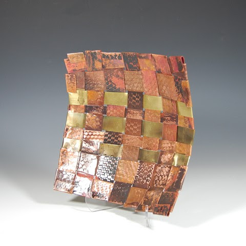 Copper Baskets and other Art by Virginia Fisher - Copper Basket 1513