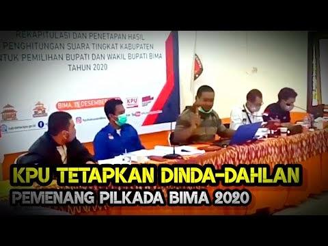 KPU Tetapkan Pasangan Dinda-Dahlan Pemenang Pilkada Bima 2020