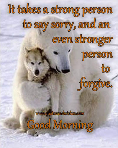 It Takes A Strong Person To Say Sorryand An Even Stronger Person To