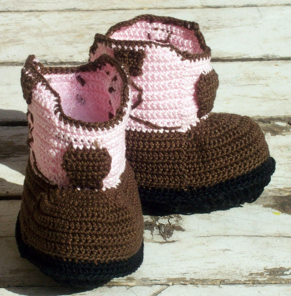 Cowgirl Boot Baby Booties