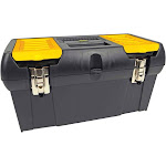 """Stanley Series 2000 Toolbox with Tray, Black, 19"""""""