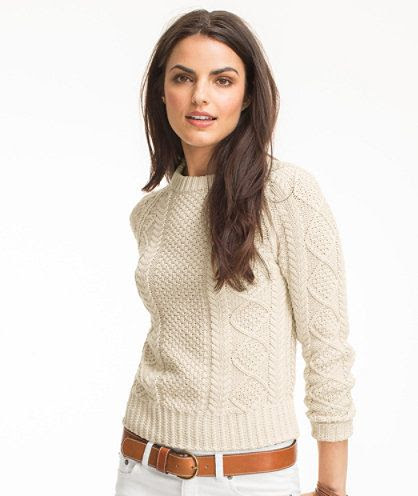 Cotton Fisherman Sweater: SWEATERS   Free Shipping at L.L.Bean