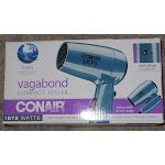 Conair 124p Folding Handle Hair Dryer With 2 Heat/speed Settings, Blue, 1875w