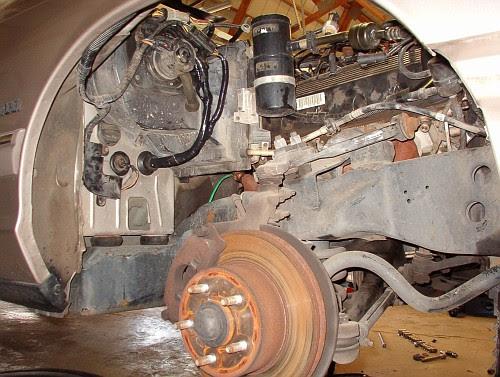 1997 Lincoln Town Car Air Suspension Compressor Location