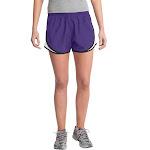 Sport-Tek LST304 Ladies Cadence Short - Purple/ White/ Black
