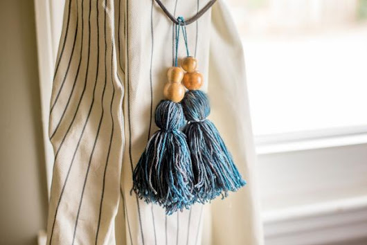 How to Make Tassel Curtain Tie Backs - Decoration for House