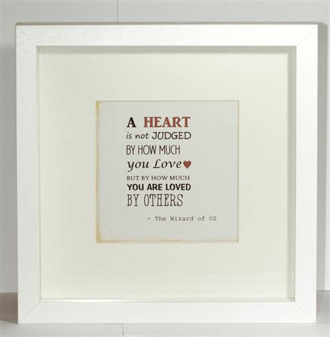Vintage look Wizard of OZ Love quote Framed print