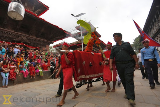 Fulpati brought to Dashainghar (Photo feature)
