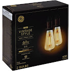General Electric Vintage Aline ST19 40 W Filament Amber Led Light Bulb, White - 2 pack