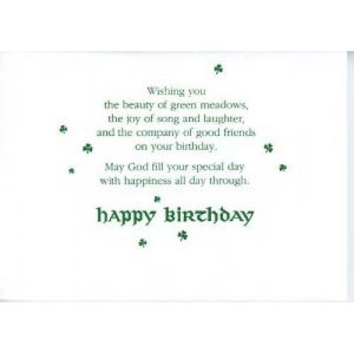 Irish Birthday Blessing Greeting Cards Cafepress Irishhappy Blessings