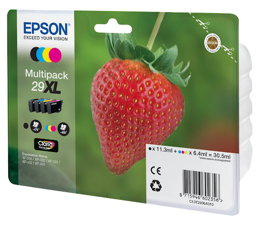 Compatible Strawberry Epson 29xl Ink Cartridges Manchester - 0161 738 1465