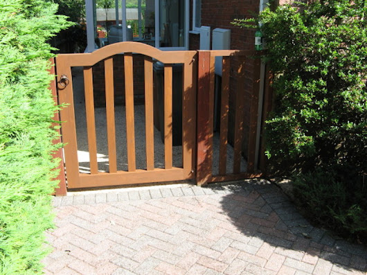 Replacement Gate finished in stain