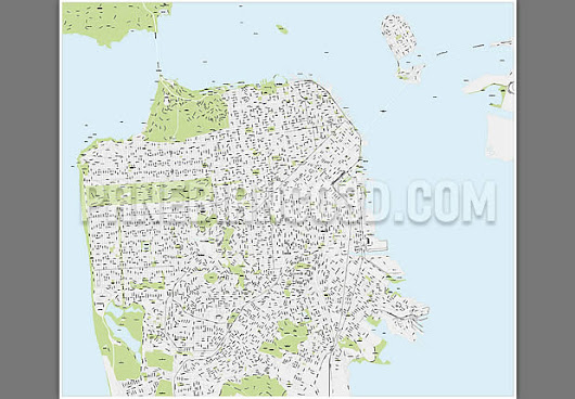 San Francisco vector city map
