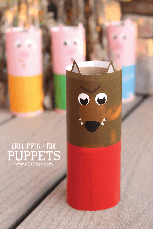 DIY Toilet Paper Tube Puppets | Skip To My Lou
