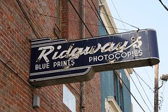 ridgway's rear entrance neon sign
