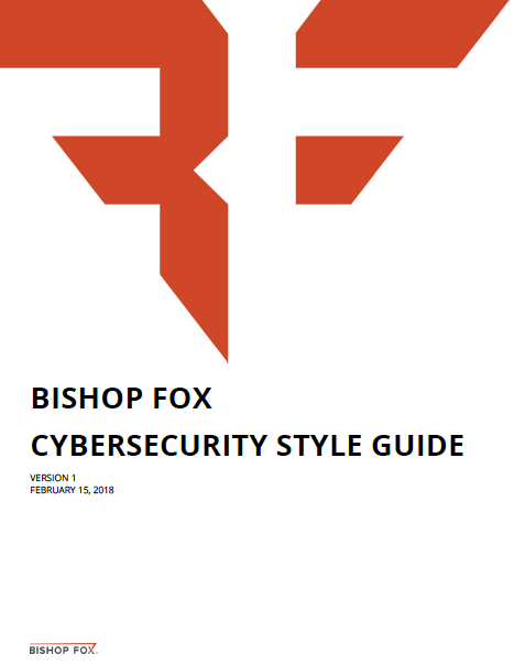 Cybersecurity Style Guide is a useful editing tool