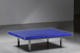 Table Bleu, by Yves Klein
