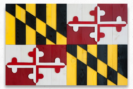 Maryland Wood Flag