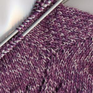 Gussets on violet socks