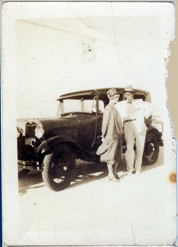couple and the car