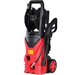 Gymax 2030PSI Electric Pressure Washer Cleaner 1.7 GPM 1800W with Hose Reel Red