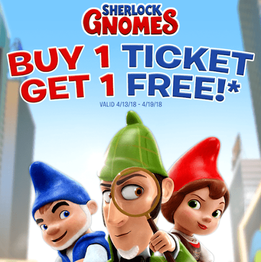 "BOGO free ticket for ""Sherlock Gnomes"" - Living On The Cheap"