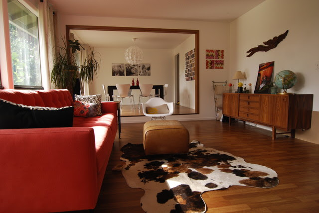 Mid-century modern living room - Modern - Living Room - portland