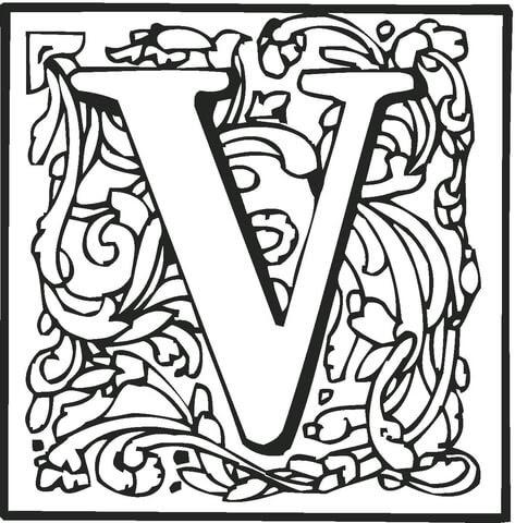 Dibujo De La Letra V Para Colorear Dibujos Para Colorear Imprimir