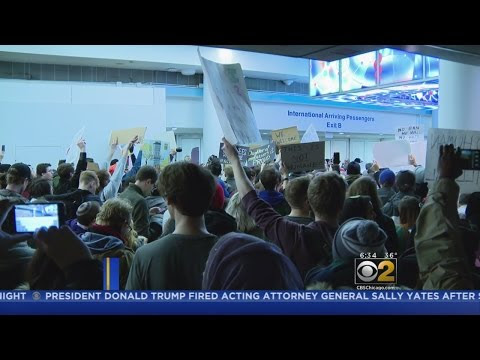 Travel Ban Protests Continue After Trump Fires Acting Attorney General