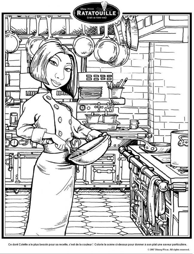 Dibujos Para Colorear Colette La Cocinera Eshellokidscom