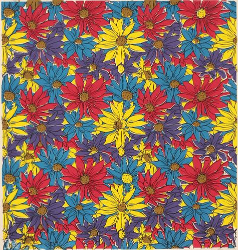 Colorful Flower Pattern Screenprint