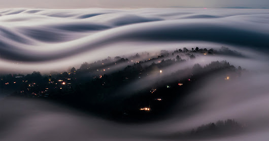 This Long-Exposure Photo Captures Marin County in a River of Fog Lit by a Full Moon