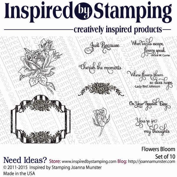 Inspired by Stamping Flowers Bloom stamp set
