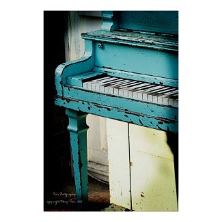 Blue Piano Posters