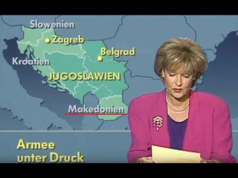 Makedonien oder Mazedonien? Tagesschau vom 20. Juli 1991